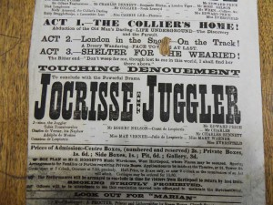 Jocrisse the Juggler 3 October 1873 (detail) - From the Tyne & Wear Archives