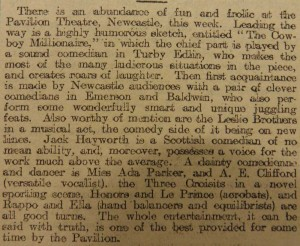 Emerson and Baldwin Article for the Newcastle Weekly Journal & Courant, 30 January 1909