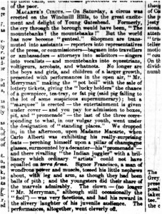 MacCarte's Circus Article from Gateshead and County of Durham Observer August 16 1951 - From Gateshead Central Library