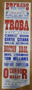 Troba at the Empress Theatre of Varieties Poster - From the Tyne and Wear Archives