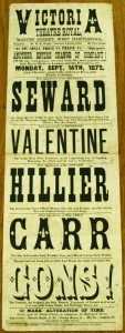 Professor Valentine at Victoria Theatre Royal, West Hartlepool Poster  - From Tyne and Wear Archives
