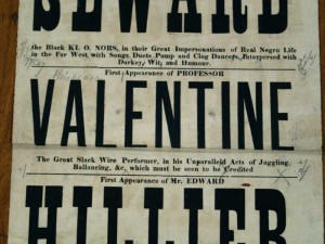 Professor Valentine at Victoria Theatre Royal, West Hartlepool Poster Close up - From Tyne and Wear Archives
