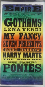 Seven Perezoffs at Sunderland Empire Poster - From the Tyne & Wear Archives