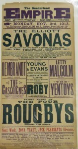The Gasgoignes at Sunderland Empire 3 November 1913 Poster - From the Tyne and Wear Archives