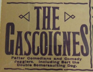 The Gasgoignes at Sunderland Empire 3 November 1913 Poster (Close Up) - From the Tyne and Wear Archives