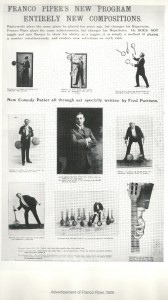 Franco Piper - Promo from 1925 - Scan from K-H Zeithen's Juggling: The Art and its Artists