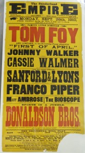 Franco Piper at Sunderland Empire Poster - From the Tyne & Wear Archives